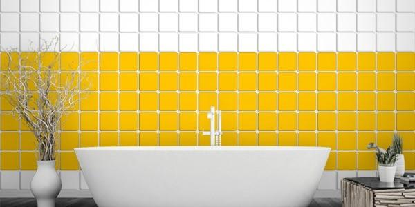 Fliesenaufkleber gelb