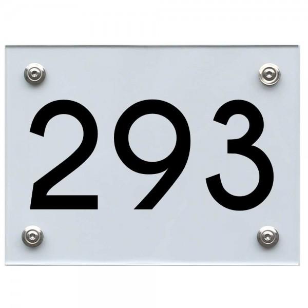 Hausnummernschild 293 schwarz