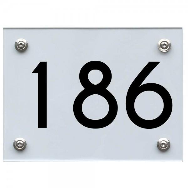 Hausnummernschild 186 schwarz