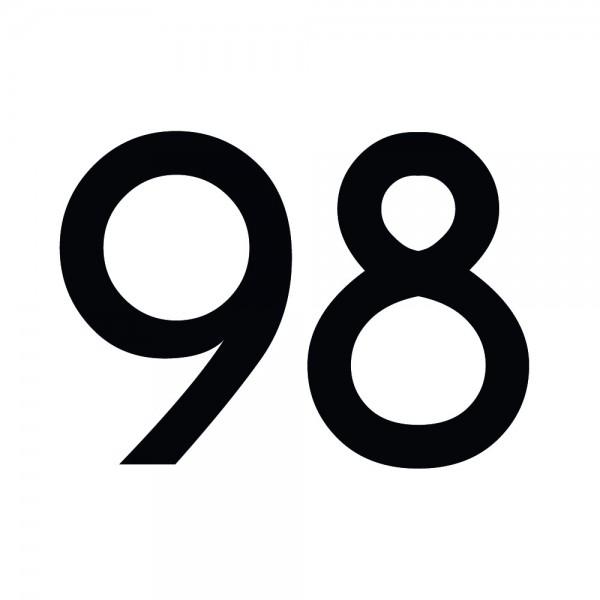 Zahlenaufkleber 98 schwarz