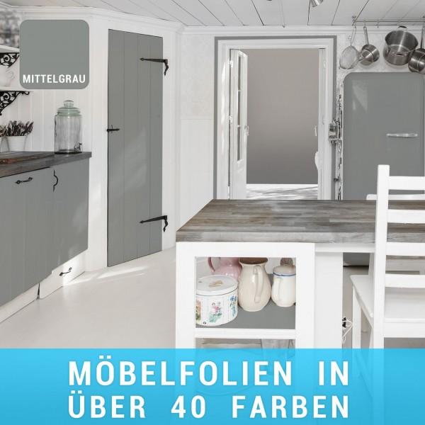Möbelfolie Mittelgrau