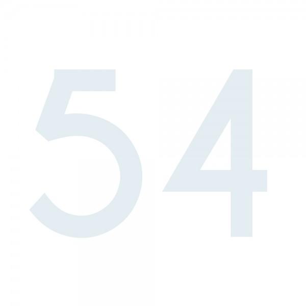 Zahlenaufkleber 54 weiß