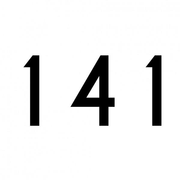 Hausnummer Aufkleber 141 schwarz