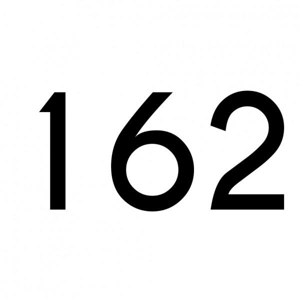 Hausnummer Aufkleber 162 schwarz