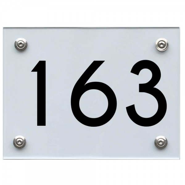 Hausnummernschild 163 schwarz
