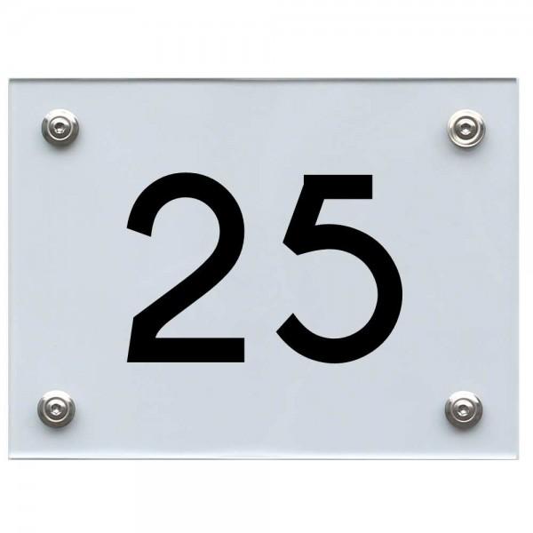 Hausnummernschild 25 schwarz