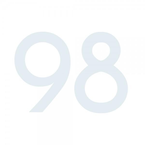 Zahlenaufkleber 98 weiß