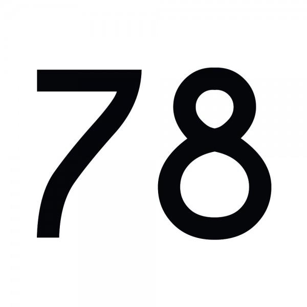 Zahlenaufkleber 78 schwarz