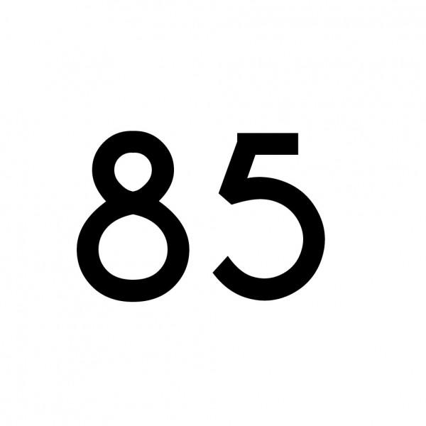 Hausnummer Aufkleber 85 schwarz