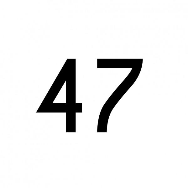 Hausnummer Aufkleber 47 schwarz