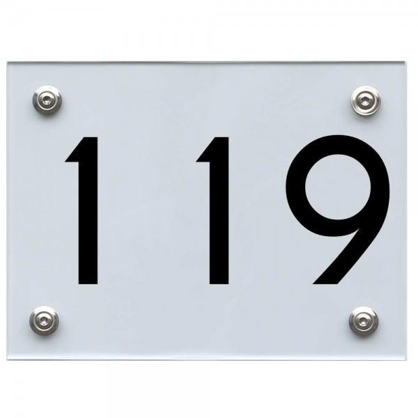 Hausnummernschild 119 schwarz