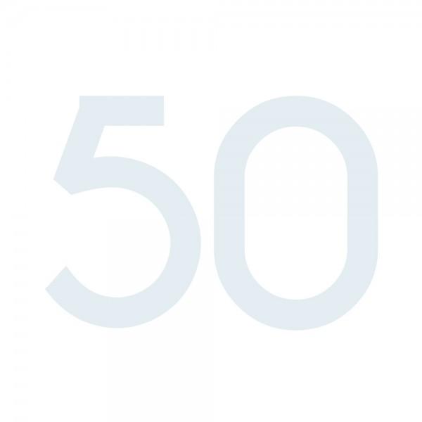 Zahlenaufkleber 50 weiß