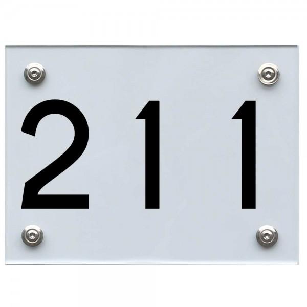 Hausnummernschild 211 schwarz