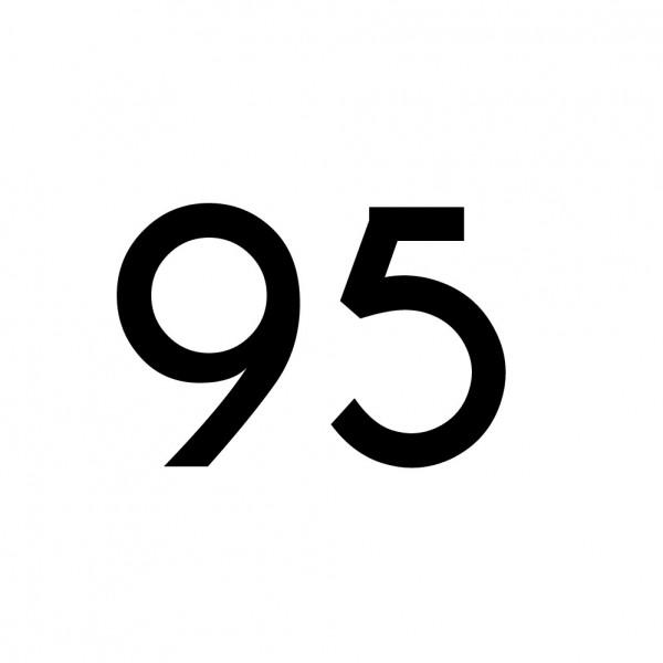 Hausnummer Aufkleber 95 schwarz