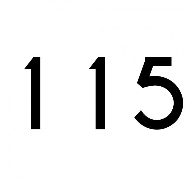 Hausnummer Aufkleber 115 schwarz
