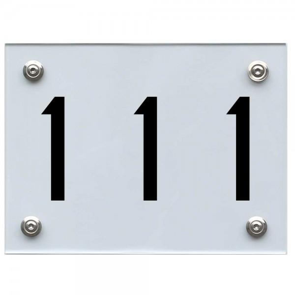 Hausnummernschild 111 schwarz