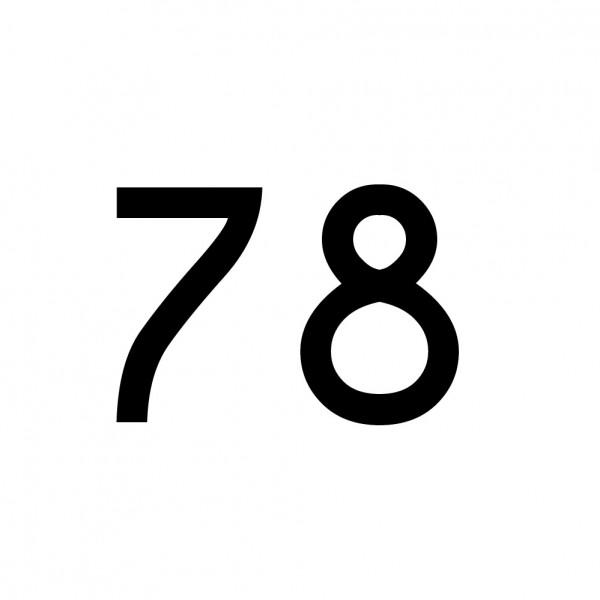 Hausnummer Aufkleber 78 schwarz