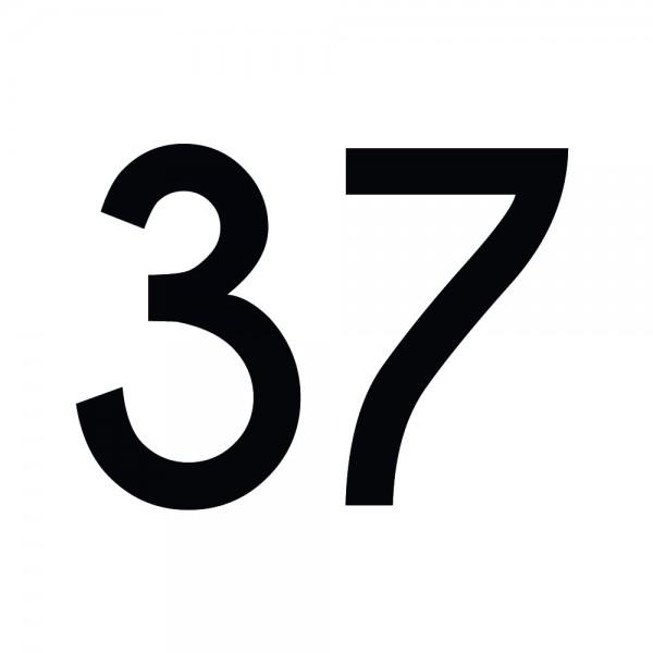 Zahlenaufkleber 37 schwarz