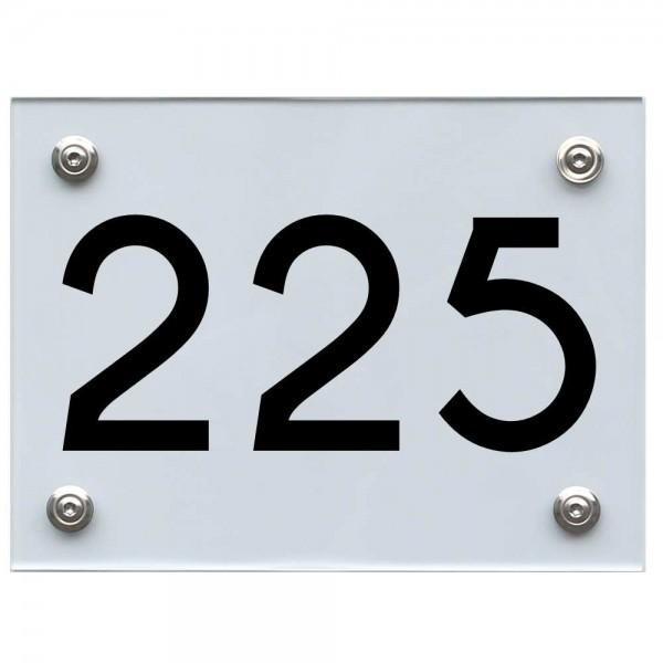 Hausnummernschild 225 schwarz