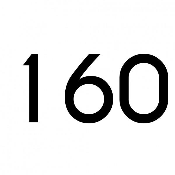 Hausnummer Aufkleber 160 schwarz