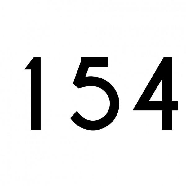 Hausnummer Aufkleber 154 schwarz