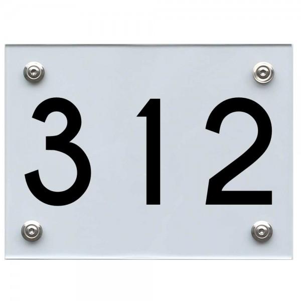 Hausnummernschild 312 schwarz