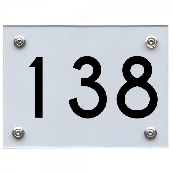 Hausnummernschild 138 schwarz