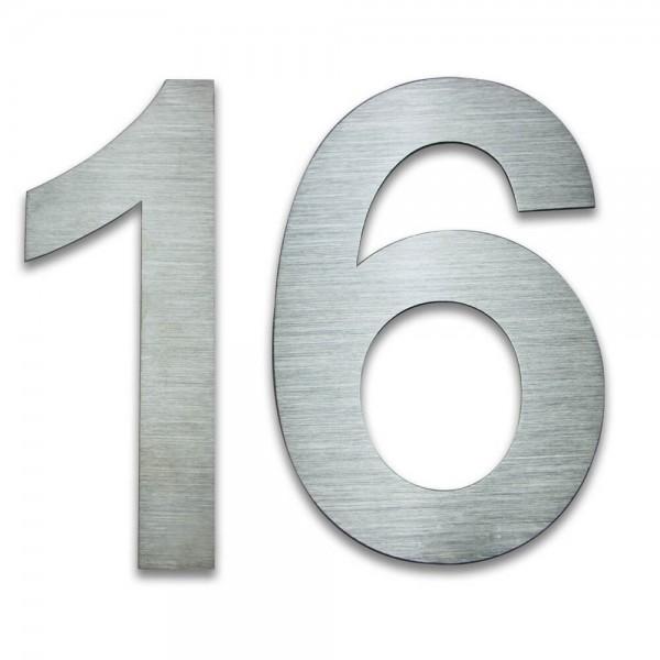 Hausnummer Edelstahl 16