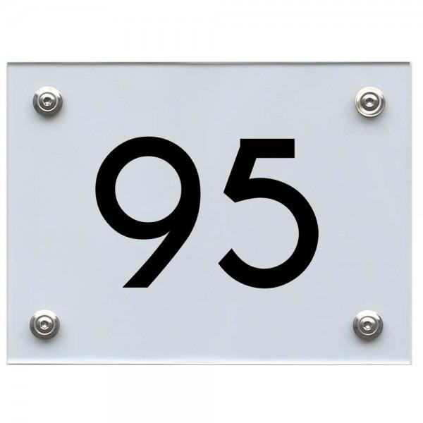 Hausnummernschild 95 schwarz