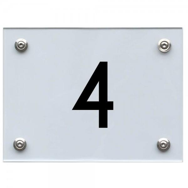 Hausnummernschild 4 schwarz