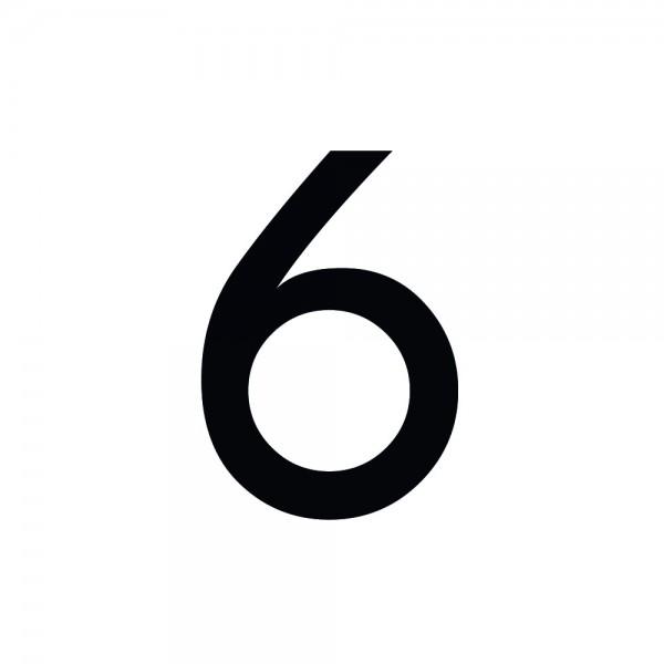 Zahlenaufkleber 6 schwarz