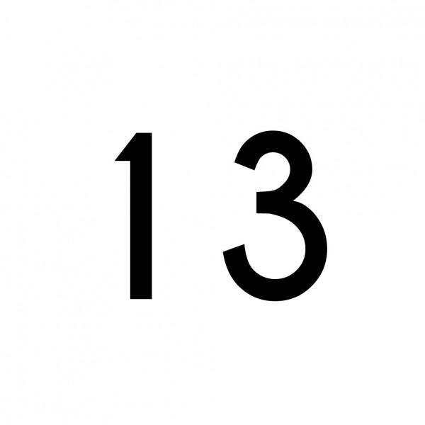 Hausnummer Aufkleber 13 schwarz