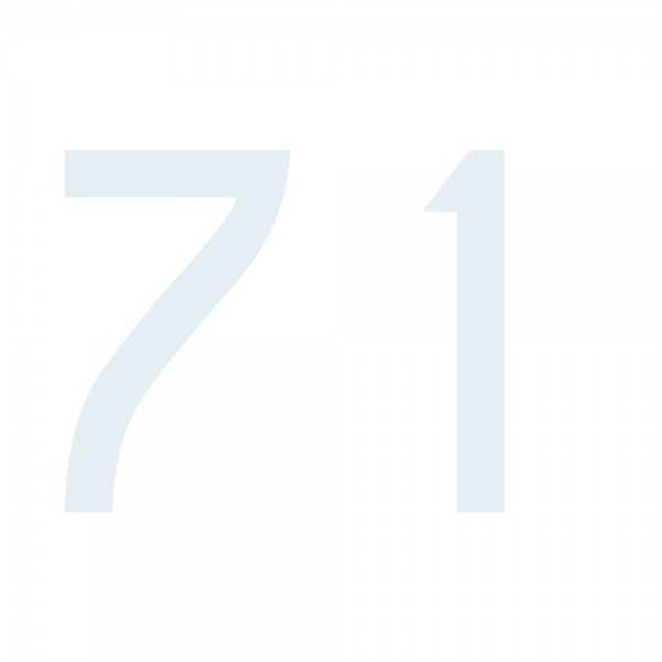 Zahlenaufkleber 71 weiß