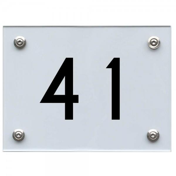 Hausnummernschild 41 schwarz