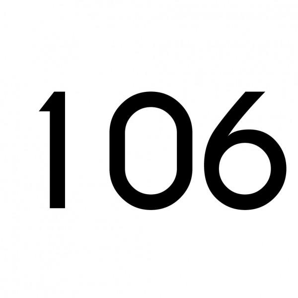 Hausnummer Aufkleber 106 schwarz