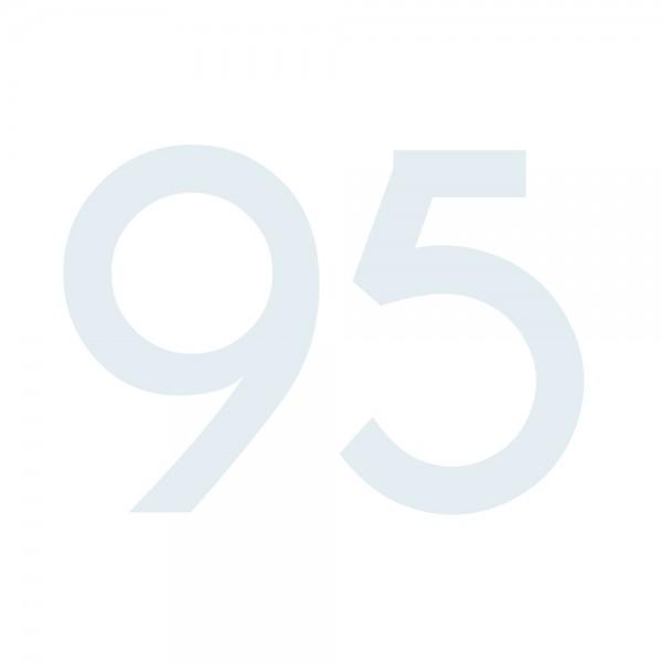 Zahlenaufkleber 95 weiß