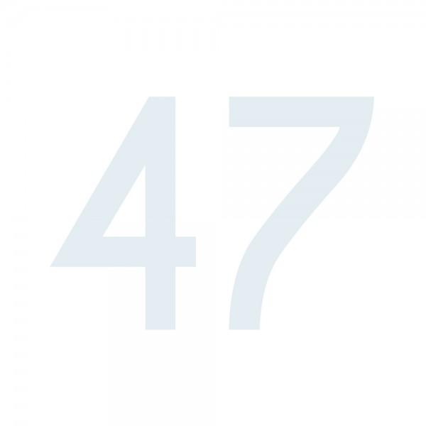 Zahlenaufkleber 47 weiß