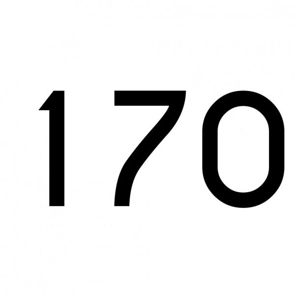 Hausnummer Aufkleber 170 schwarz
