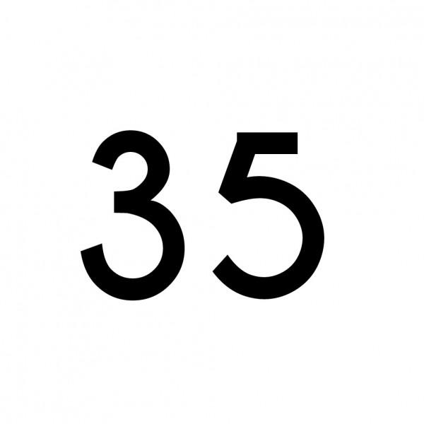 Hausnummer Aufkleber 35 schwarz