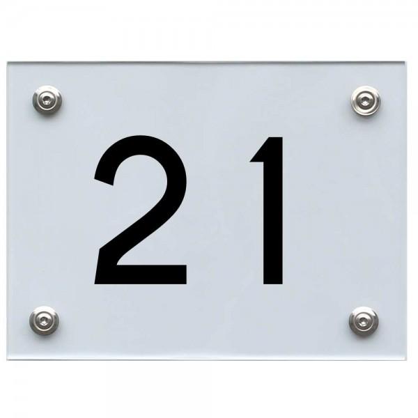 Hausnummernschild 21 schwarz
