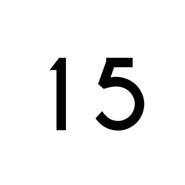 Hausnummer Aufkleber 15 schwarz
