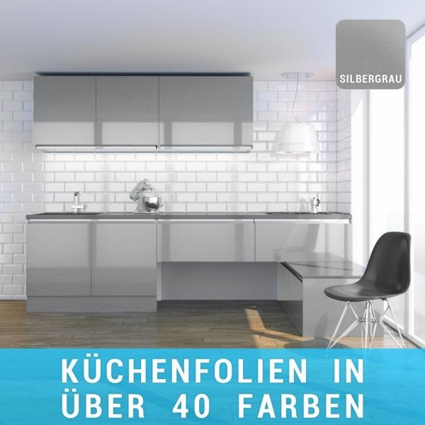 Küchenfolie silbergrau
