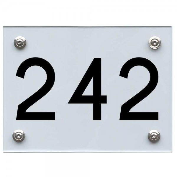 Hausnummernschild 242 schwarz
