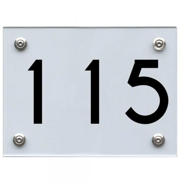 Hausnummernschild 115 schwarz