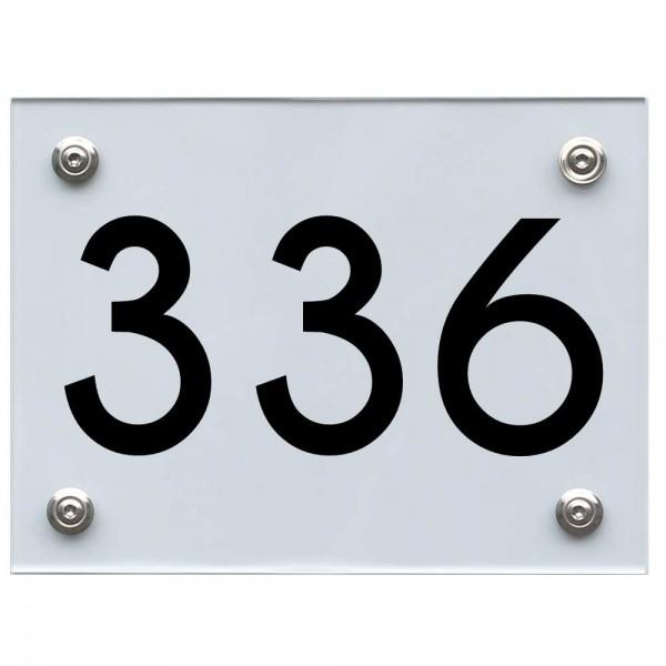 Hausnummernschild 336 schwarz