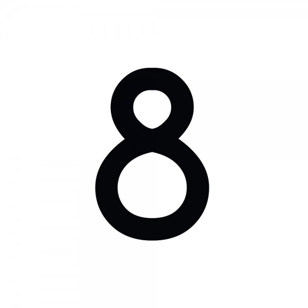 Zahlenaufkleber 8 schwarz