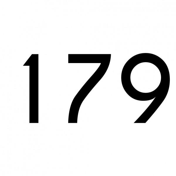 Hausnummer Aufkleber 179 schwarz