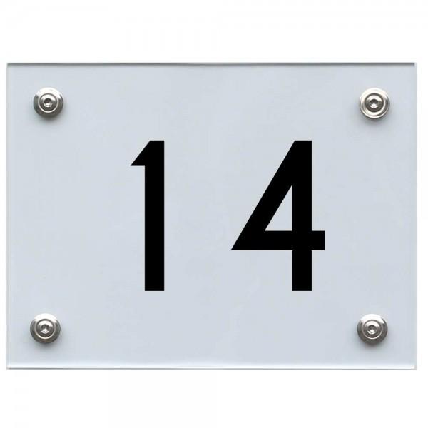 Hausnummernschild 14 schwarz