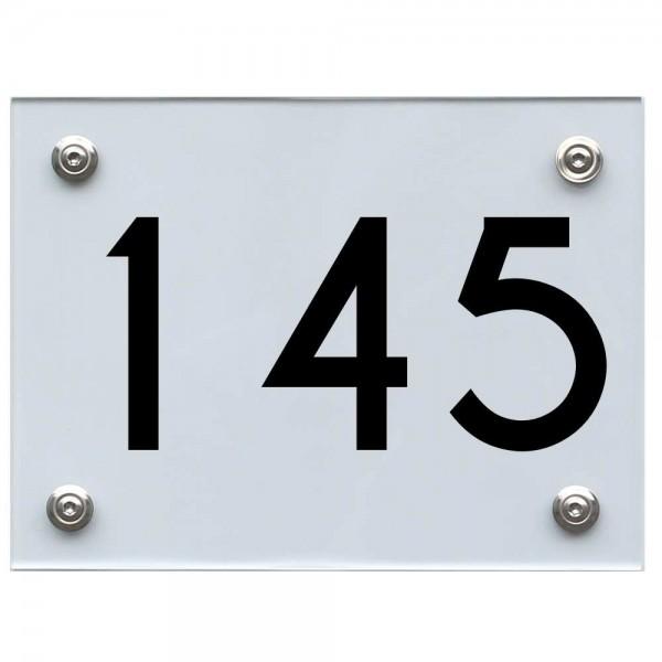 Hausnummernschild 145 schwarz