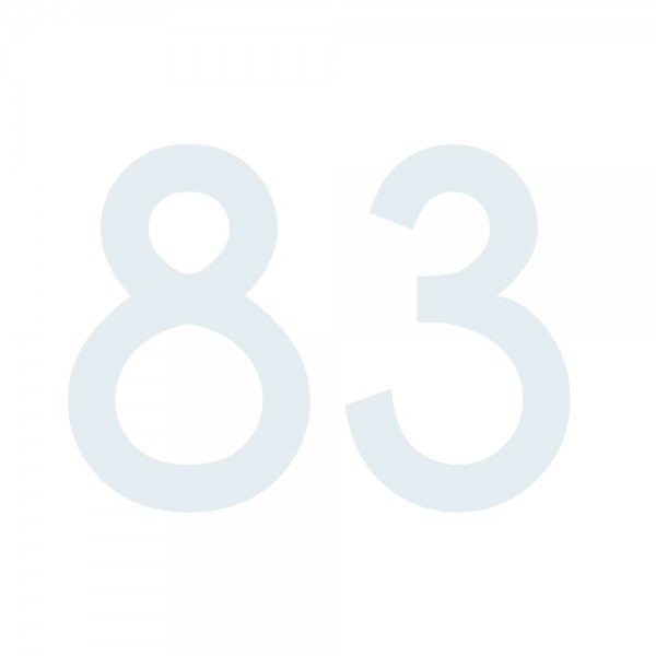 Zahlenaufkleber 83 weiß